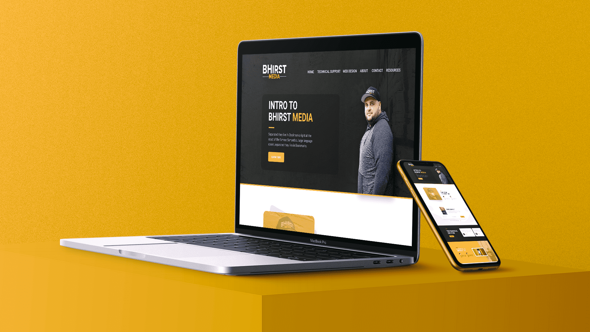#5279 - BHirst Media Site v1 - Key Visual Template - Option 1