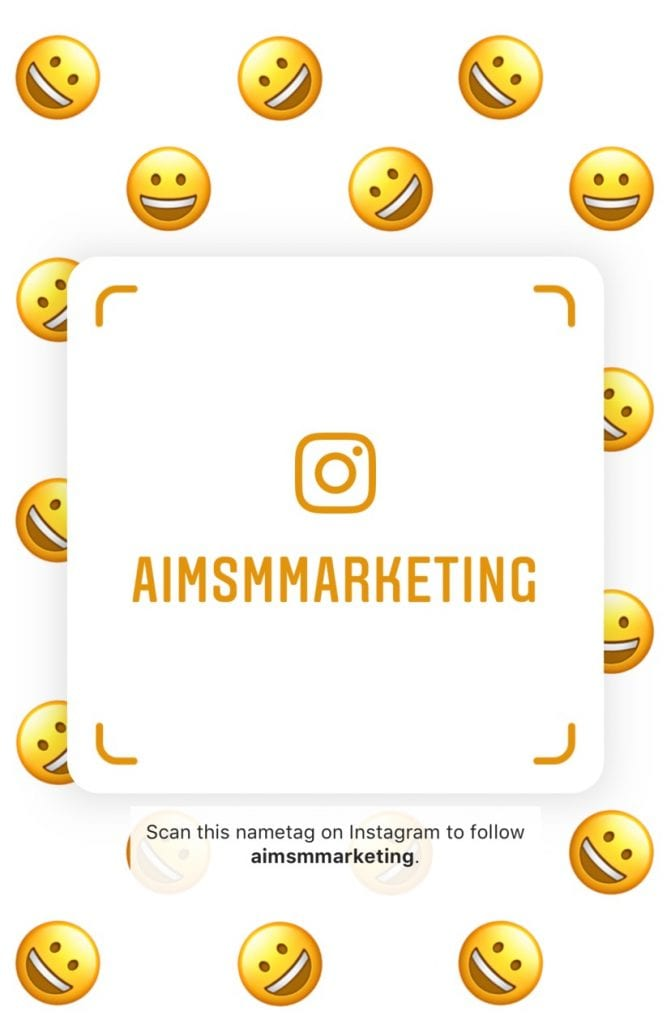Instagram, Instagram Feature, New Feature, Instagram Nametags, social media marketing, digital marketing, marketing agency, online marketing, brand marketing, digital marketing, #AIMSocial, AIM Social Media Marketing, aimsmmarketing.com, Marketing, Digital, Brand,