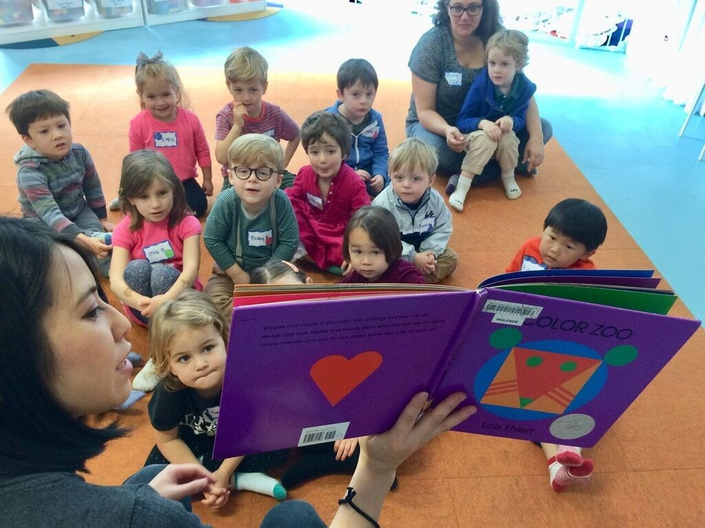 preschoolers learning about the geometry through storytelling