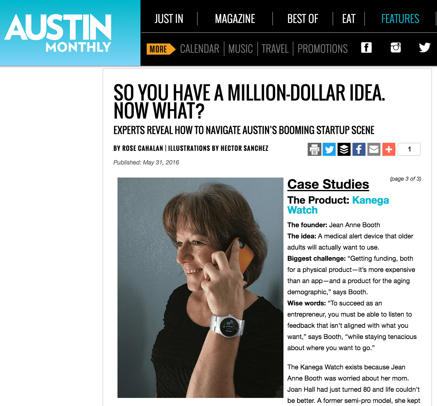 Jean Anne reveals how to navigate Austin's Startup Scene as CEO of UnaliWear and Kanega Watch