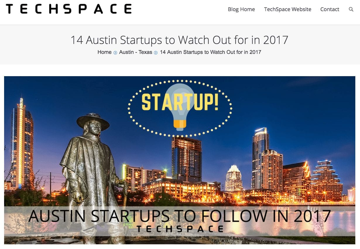 14 Austin Startups to Watch Out for in 2017 - UnaliWear featured on TechSpace